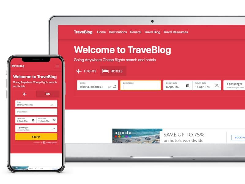 TravelBlog Free Bludit Theme
