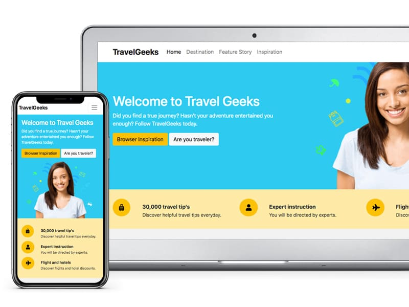 TravelGeeks Free Bludit Theme